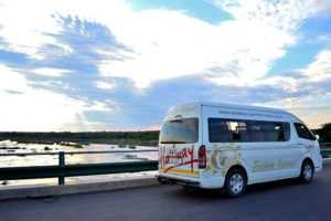 We use a mini bus or SUV to Safari in Africa