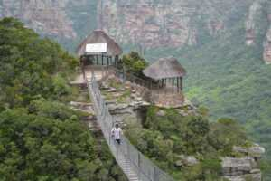 The Oribi Gorge near Durban, suspension bridge