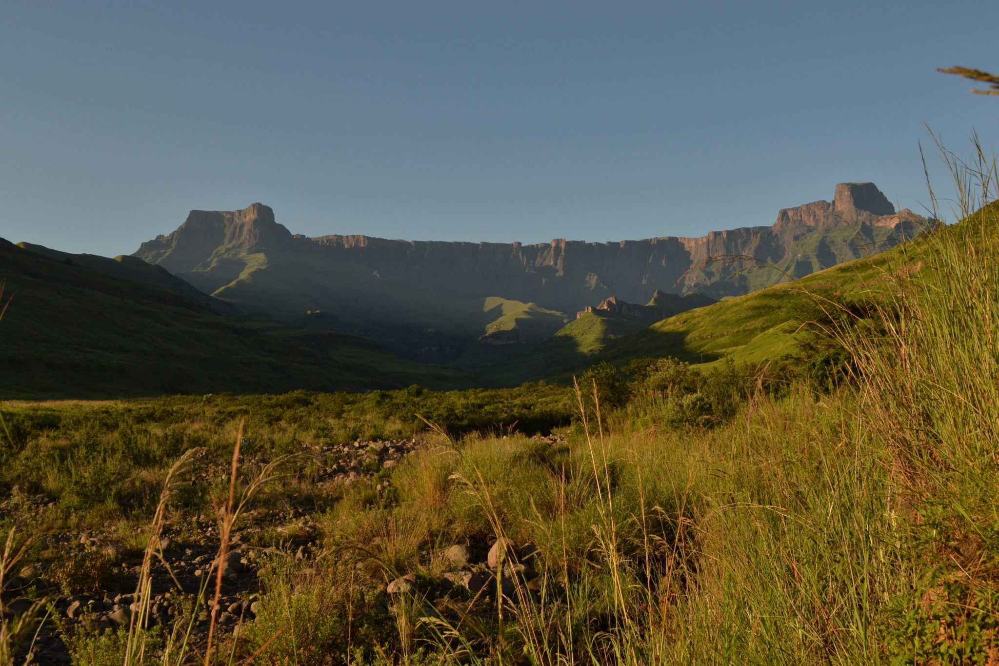 The Northern Drakensberg Tour has the mighty Amphitheater mountain range