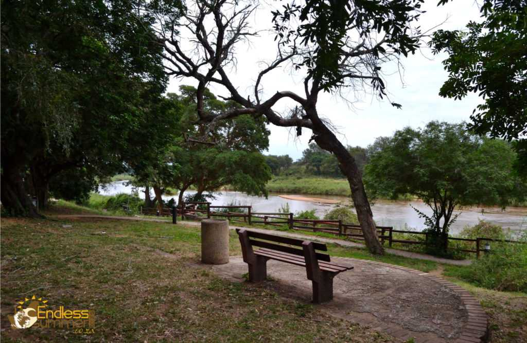 A bench overlooking the Sabie river in the Kruger Park