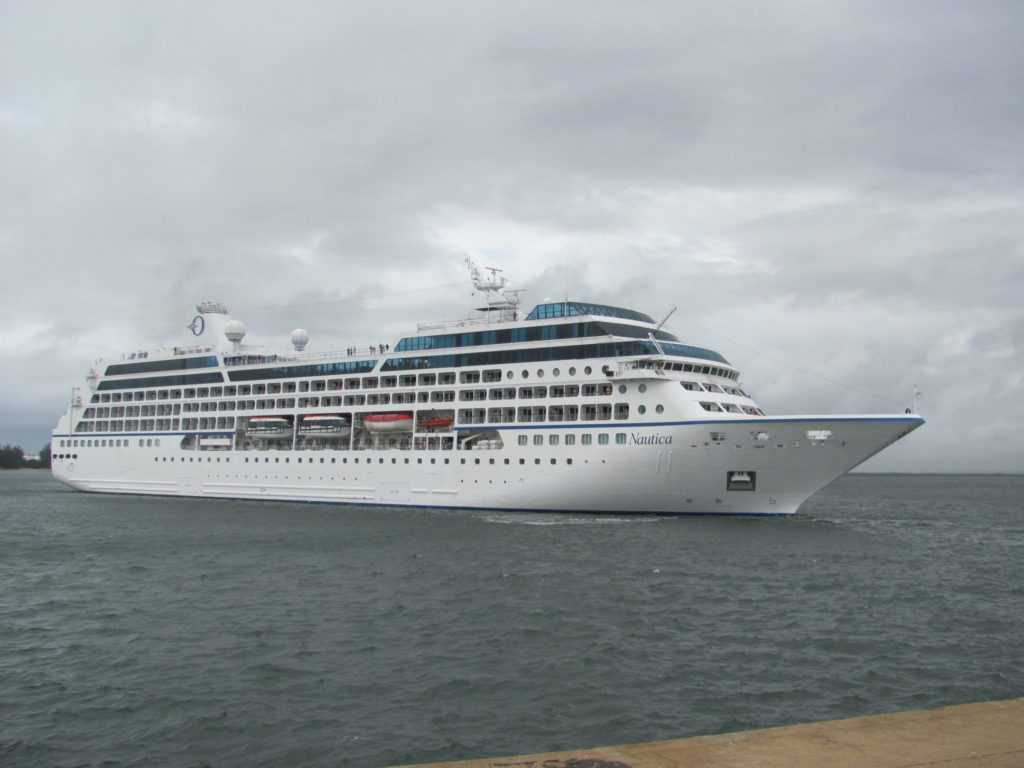The Nautica arrives in port for a Durban cruise ship shore excursion